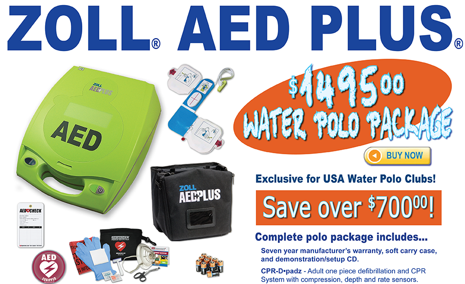 ZOLL AED Plus Water Polo Package - $1495